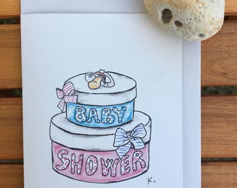 Baby shower announcement