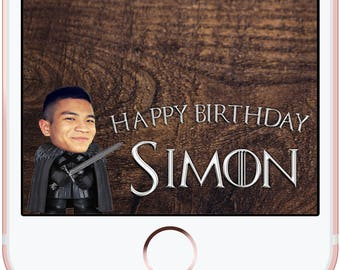 Game of Thrones Birthday Snapchat Filter Jon Snow Photo