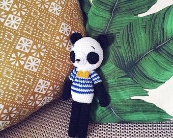 Stuffed panda crocheted