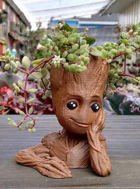 Baby Groot Flower Pot Succulents 3d Printed Planter Home Decor