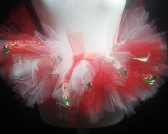Candy Cane Tutu and Hair bow(optional)