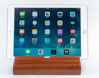 African Sapele Wood iPad Stand/ Docking Station /Charging Station
