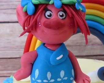 Poppy (Trolls) and rainbow