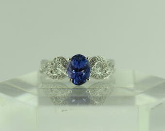18 karat Tanzanite and Diamond Ring