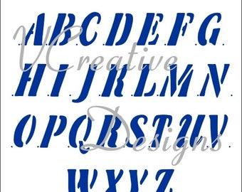 Banner Upper Case alphabet stencil