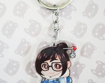 MiniWatch Mei - Overwatch Inspired Keychain