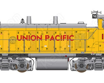 Digital Art Print - EMD MP15AC Locomotive - Union Pacific 1448