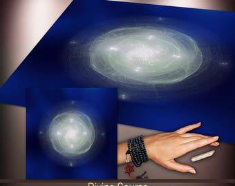 Crystal Grid Cloth - Divine Source - Crystal Meditation Energy Grid