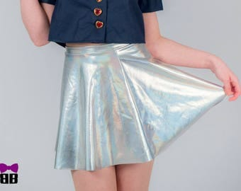 "Holographic ""Kimi ga suki"" Stretchy Skirt"