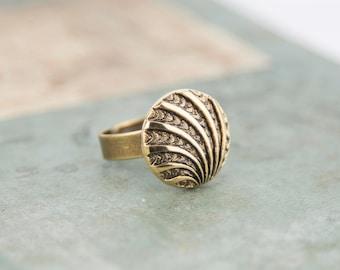 Vintage - genuine vintage buttons #1297 ring