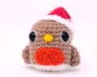 Crochet Christmas Robin Decoration