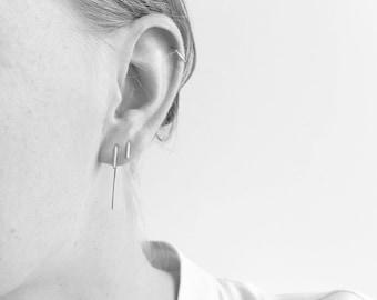 Slide-in Bar Earrings