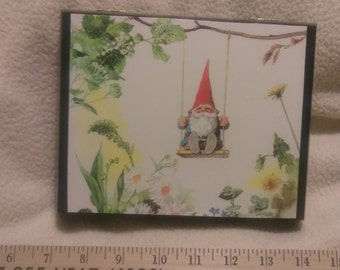 Hinged Box featuring Gnome on a Swing