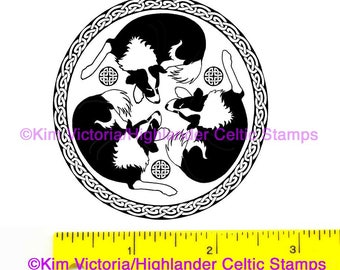 Border Collie sleeping tiro Unmounted Rubber Stamp