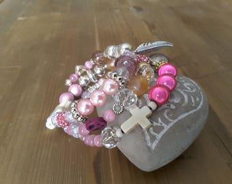 Pink MULTISTRAND bracelet