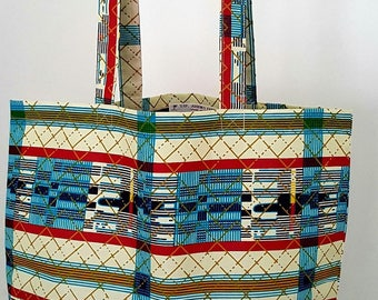 Tote bag African wax print ethnic bag