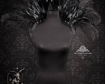 Feather Stand Up Collar - Skulls