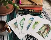 Bundle of five 5x7 Art Prints from Little Literary Windows series, Children's Books, Classic Literature, Watercolor