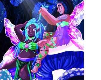 Enchanted Fairies Art Print 11x17 inches