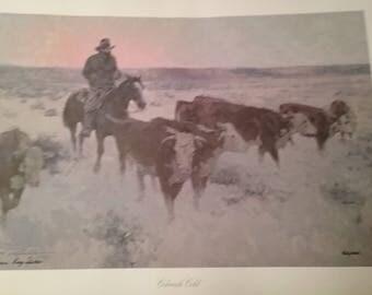 Vintage Colorado Cold Print Signed by Artist James Reynolds Limited Edition Print 1983