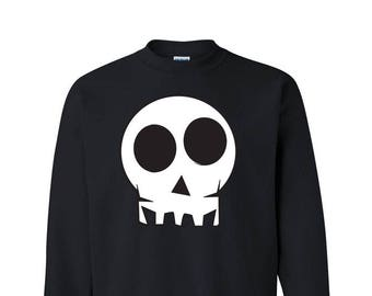 Skull Halloween Sweatshirt Funny Halloween Shirts Halloween Drinking Shirt Skull Shirt Halloween Costume