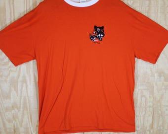 Vintage 1990's Tiger CUB SCOUTS Orange Ringer Boy Scouts 50/50 T Shirt T-shirt Tee Medium Large