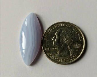 30.12 x 12.10 mm,Marquise Shape Blue Lace Agate Cabochon,Attractive Blue Lace Agate/wire wrap stone//Pendant Cabochon/SemiPrecious Gemstone