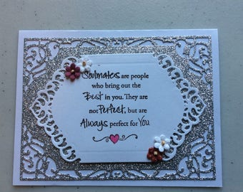 Handmade Card - Soulmates in Silver