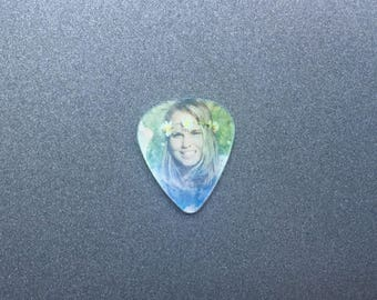 Needle Minder or Magnet: Peace Sign and Flower Child 3D Guitar Pick
