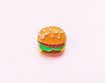 Hamburger Enamel Pin - Junk Food Pin - McDonalds Pin - Fast Food Pin - Kawaii Pin - Treat Yo' Self - Punk Pin -Harajuku clothing -Jacket Pin