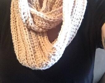 Crochet Scarf - Beige