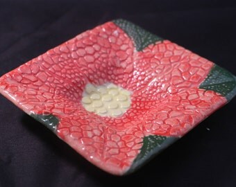 Small Poinsettia Jewelry Dish