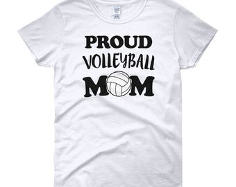 Proud Volleyball Mom Women's short sleeve t-shirt