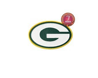 Green Bay Packers  7 Sizes Sport Team Embroidery Design instatnt download machine embroidery pattern