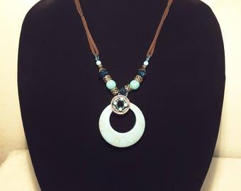 Women's Fashion Beaded Pendant Necklace