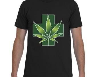 STONER SHIRT | Smoker Shirt | Marijuana Shirt | Weed Shirt | Green Cross Shirt | Badass Shirt by Badass T-Shirt Co.