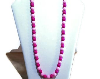 Pink Round Bead Necklace