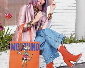 Orange Moschino x Magnum Tote