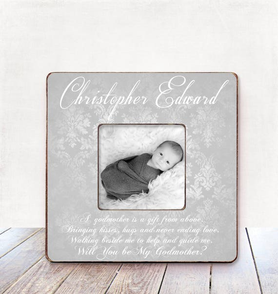 Will you be my Godmother? Baby boy Godmother gift Godmother frame ...