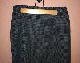 Vintage Grey Checkered Highwaist Bubble Skirt