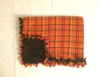 Orange Plaid Blanket