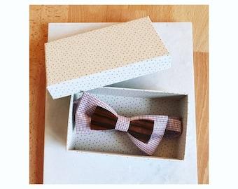 Bow tie fabric and wood: Macassar ebony