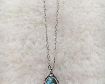 """Sierra boulder sterling silver 20"""" necklace"""