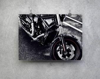 Harley Davidson Wall Art   Harley Davidson Photograph   Motorcycle Wall Art    Biker Decor