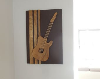 Guitar painting wood