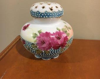 Vintage beautiful floral hatpin holder