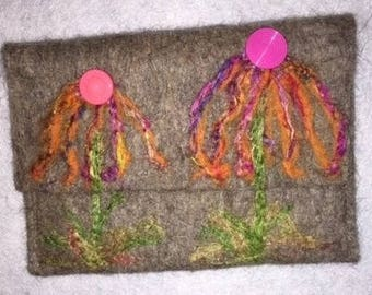 Needle felted coin purse or credit card holder