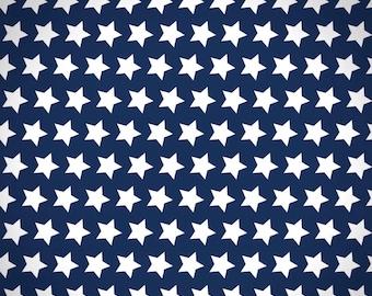 Navy Star Fabric, Fabric by the Yard 100% Cotton Fabric Quilting Fabric Apparel Fabric Cotton Fabric Blue Star Fabric Designer Yardage