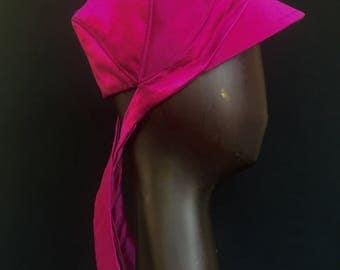 JOLA - Fuchsia Silk Satin Faced Crepe