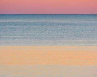 Magical Golden Sunset -  Warm Summer Ocean Photography